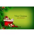bright green christmas vector image