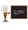 funny professor showing blackboard vector image