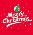 marry christmas logo vector image