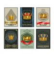 royal crown realistic bannesr set vector image
