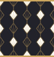 abstract art deco gold black seamless pattern vector image