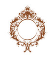 baroque mirror frame vintage template vector image