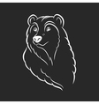 Bear head logo template emblem on black background vector image vector image