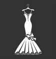 beautiful dress silhouette vector image vector image