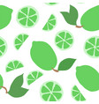 beautiful seamless doodle pattern with cute green vector image