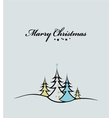 Beauty Christmas tree background vector image vector image