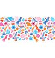 birds flowers seamless border cute vector image vector image