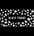 black friday sale text hand drawn white vector image