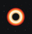 blackhole on spcae with star galaxy blackhole vector image vector image