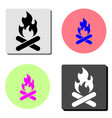 Bonfire flat icon
