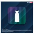 bride dress icon vector image