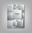 brochures book or flyer with abstract gray vector image vector image