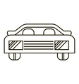 Car icon outline style vector image vector image