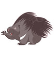 cartoon happy porcupine vector image vector image