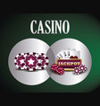 casino related icons vector image vector image