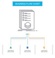 categories check list listing mark business flow vector image vector image