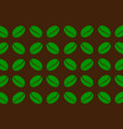 coffee beans - pattern vector image