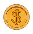 coin dollar cash money currency icon vector image vector image