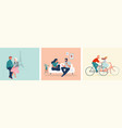 collection man and woman cartoons - romantic vector image