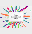 colorful blank template for advertising vector image vector image