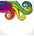 colorful swirl design background vector image vector image