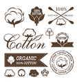 Cotton decoration elements vector image