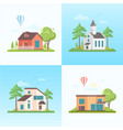 country life - set of modern flat design style vector image vector image