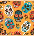 Dia de los muertos day of the dead seamless