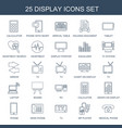 display icons vector image vector image