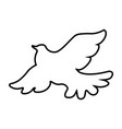 dove flat icon single high quality outline symbol vector image