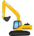 excavator construction machine vector image