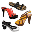 Fashion shoes set vector image