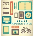 Flat hipster set of web elements vector image vector image