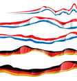 france and germany flag set vector image