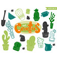funny cactus set vector image
