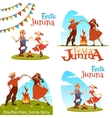 Girl and boy dancing at Brazilian Festa Junina vector image vector image