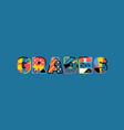 grades concept word art vector image vector image