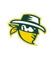 green bandit mascot vector image vector image