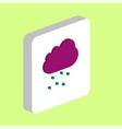 hail cloud computer symbol vector image