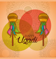 happy ugadi celebration calendar indian festival vector image vector image