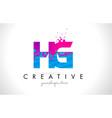 hg h g letter logo with shattered broken blue vector image vector image