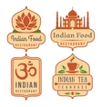 Indian food logo set vector image vector image