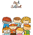 Kindergarten Kids Back to School Background