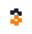 letter b 3 modern symbol vector image