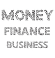 Lettering Business finance and money phrase vector image