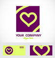 Love heart purple logo icon vector image vector image