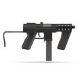machine submachine hand gun street gang weapons vector image vector image