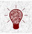 Medicine a bulb vector image vector image