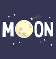 moon sign full moon conceptual flat editable sign vector image vector image