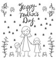 mother day hand draw card vector image vector image
